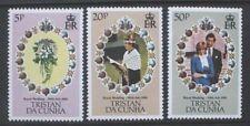 TRISTAN DA CUNHA 1981 Royal Wedding. Set of 3. Mint Never Hinged. SG308/310.