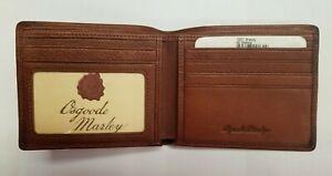 Osgoode Marley Leather Men's Billfold W/ ID Window 1531 Brandy