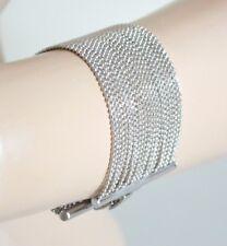 PULSERA mujer PLATA hilos múltiples brazalete cadena alambres woman bracelet B32