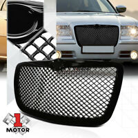 Glossy Black ABS 3D Wave Mesh Bumper Grille/Grill for 05-10 Chrysler 300/300C