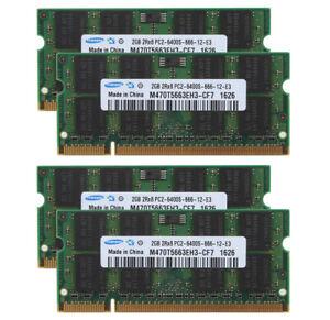8GB Samsung 4X 2GB 2RX8 PC2-6400 DDR2 800Mhz 200pin SODIMM Laptop Memory RAM $GS
