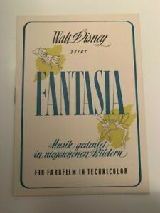 """WALT DISNEY #3 RKO-Einladung zur Premiere von """"Fantasia"""", Berlinale-EA 1952"""