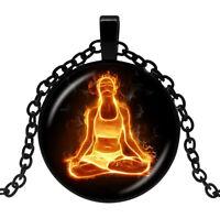 Pendant Necklace Yogi Flamboyant, meditation, Yoga, energy