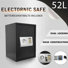Large Heavy Duty Commercial Personal Money Safe Double Locking Shop Home 52L