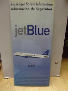 Safety Card - Jet Blue A-320, 1999