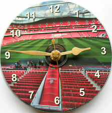 More details for  arsenal, emirates, football on a 12cm cd clock non ticking+free desk stand