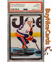 2016 Mathew Barzal Upper Deck Young Guns RC Rookie #458 PSA 10 Gem Mint