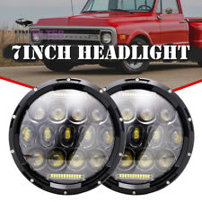 "7"" 150W Round Black LED Headlights DRL Hi/lo Beam For Chevrolet G10 20 30 C10 20"
