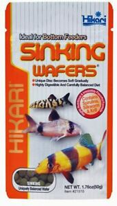 HIKARI SINKING WAFERS 1.76 OZ IDEAL FOR BOTTOM FEEDER FOOD. FREE SHIP TO THE USA