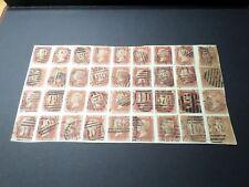 GB GRANDE BRETAGNE UK LOT 36 timbres 26 SUR PAPIER oblitéré pour etude cancelled
