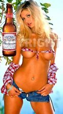 Fridge Magnet Sexy Budweiser country girl hillbilly hooters pin-up girl art