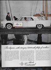 "LINCOLN MOTOR CARS 1961 CONTINENTAL SEDAN IN WHITE PURE ELEGANCE 10"" X 12.5"" AD"