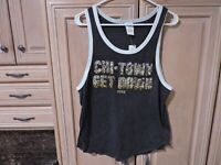 Victoria's Secret PINK Gray Bling Sequins Tank Top Size M NWT