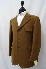 Men's Dunn & Co Marrón Comprobado Vintage Chaqueta Blazer 40R CC5161