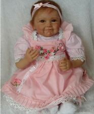 New Realistic Hair Rooted Lifelike Soft Vinyl Silicone Newborn Baby Reborn Dolls