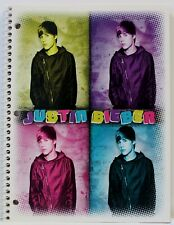 Justin Bieber 4 Colors - SPIRAL NOTEBOOK 2011 - 70 Wide Ruled Sheets  - NEW