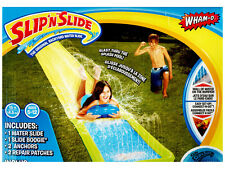 WHAM-O LAWN WATER SLIP N SLIDE AND SINGLE SLIDER OUTDOOR KIDS BACKYARD TOY FUN