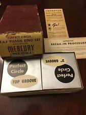NOS 1953-1954 MERCURY MEK-6149-A Perfect Circle PISTON RING SETS & VINTAGE BOX