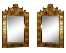 1069-801: Pair of 2 Greek Key Decorated Gilt Mirrors