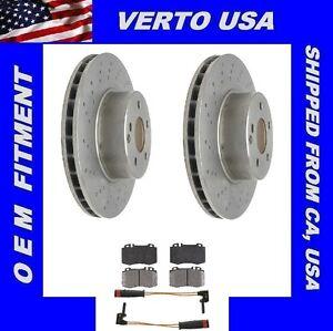 Front Brake Rotors, Pads & Sensors For Mercedes Benz CL500, S350, S430, S500