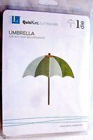 """Beach Umbrella Quickutz 4x4"""" Thin Metal Die DR0336 NEW!"""