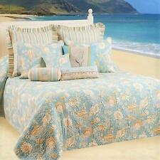NEW Natural Shells King Quilted Bedspread FREE SHIPPING