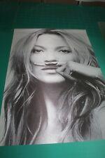 "New Hot Super Sexy Model KATE MOSS Life Is A Joke Silk Fabric Poster 24X36"""