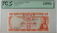 (1974) Fiji Central Monetary Agency $5 Note SCWPM# 73c PCGS 64 PPQ Very Ch New