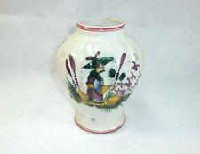 Caduto Ceramica Vaso Francia 19 Secolo dipinti a mano
