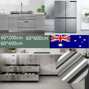 Self Adhesive Stainless Steel Brushed Contact Paper Vinyl Film Wallpaper Decor