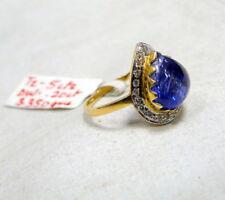 Gold Tanzanite Diamond Ring 14K Handmade fine jewelry engagement wedding