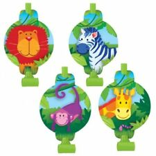 Jungle Animals Wild Safari Zoo Cute Kids Birthday Party Favor Horns Blowouts