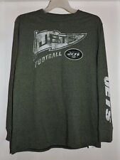 New York Jets NFL Football Long Sleeve Majestic T-Shirt-Size Large-NWT