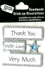 Thank You With Love Very Much DIY Greeting Card Toppers