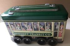 HERSHEY TRANSIT CO TROLLEY TIN advertising metal tin #3  2002 Green