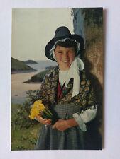 Welsh National Costume Vintage colour Postcard c1970s