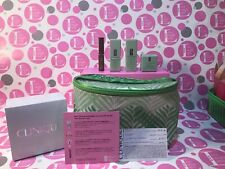 Clinique 5pc SAMPLER set in BAG - Smart Serum,All About Eyes,M.Surge,Almost Lips