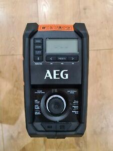AEG 18V 240V Hybrid Bluetooth Jobsite Radio Cordless Skin 5.0 IP64 BRFMB18-0 NEW