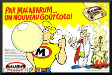 PUB / PUBLICITE ADVERTISING ASTERIX MALABAR 1984  * Vintage