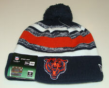 Chicago Bears Knit On Field New Era Hat Cap Toque Beanie Player Sideline Retro