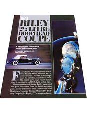 1951 Riley 2.5 Litre Drophead Coupe Original Car Review Print Article J441