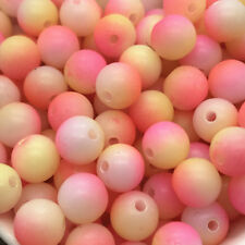 5mm 100pcs Round Pearl Matte multicolored Loose Beads Spacer Jewelry Making #05