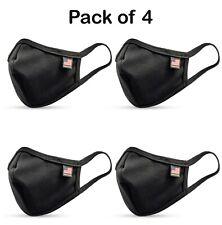 4PCS Pack Made in U.S.A Premium Cotton Mask (Black)