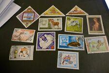 12 Mongolia used postage stamps philately postal mail Philatelic kiloware