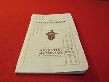 1937 Packard Super Eight Owners Manual