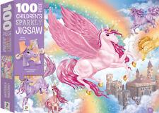 Hinkler - Unicorn Kingdom Sparkly Puzzle 100pc