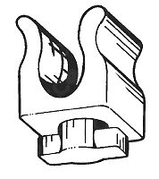 Graffetta fissaggio puntello cofano Fiat Ritmo - Panda - Uno