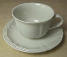 Villeroy & Boch WHITE MANOIR Flat Coffee Cup & Saucer Porcelain Luxembourg