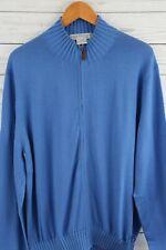 MARTIN 100% Luxury Italian Merino Sweater-Full Zip Cardigan NEW $49.99 Med Blue