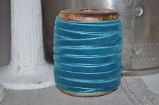 2M Danese Lusso Stile Vintage Velluto Blu Nastro Orlo Artigianato